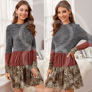 DAPHNE leopard Print Knit Dress